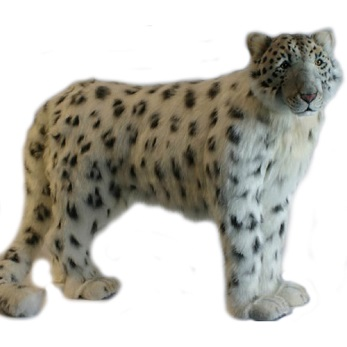 """Life-size and realistic plush animals.  0006 - SNOW LEOPARD 48""""L"""