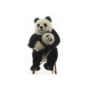 Life-size and realistic plush animals.  0069 - PANDA  WITH BABY