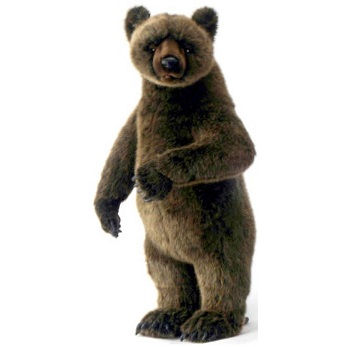 Life-size and realistic plush animals.  0201 - GRIZZLY BEAR CUB STANDG UP ON 2FT