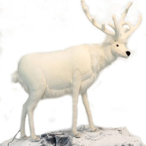 "WHITE DEER MALE 48""H STATIC5924 Plush Toy"