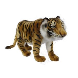 """Life-size and realistic plush animals.  0425 - TIGER STANDING CUB 22""""L"""