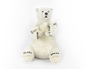 "POLAR BEAR MAMA WITH BABY 30.3""H Plush Toy"