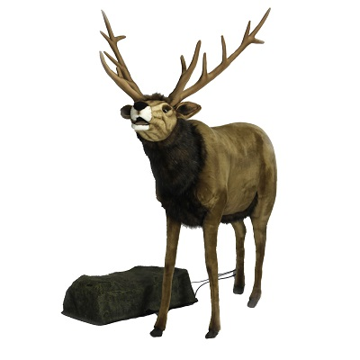 Life-size and realistic plush animals.  0700 - REINDEER 60''  TALK/SING (3349)