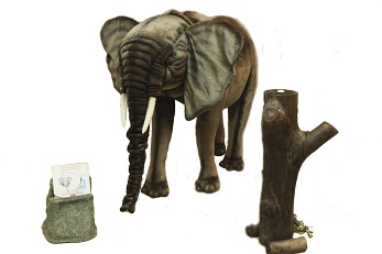Life-size and realistic plush animals.  0790 - ELEPHANT STANDING
