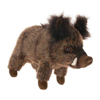 Life-size and realistic plush animals.  2830 - BOAR