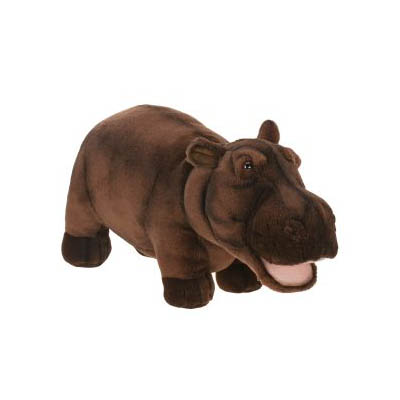 Life-size and realistic plush animals.  2888 - HIPPO