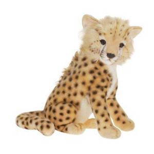 Life-size and realistic plush animals.  2992 - CHEETAH CUB MED 13''