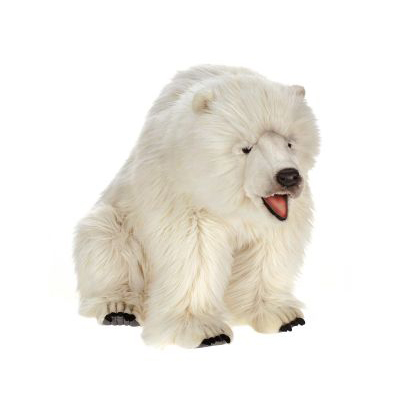 POLAR BEAR SEATED 35''L Plush Toy