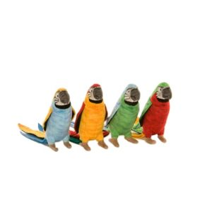 PARROTS 7'' ASSORTED 4 COLORS (EA PRICE/4 QTY ENTRY) Plush Toy