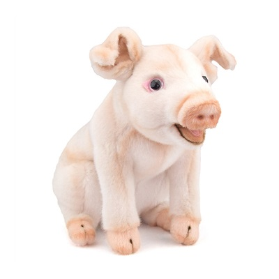 Life-size and realistic plush animals.  3380 - PIG