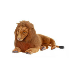 Life-size and realistic plush animals.  3568 - LION XLG LAYING 39''L