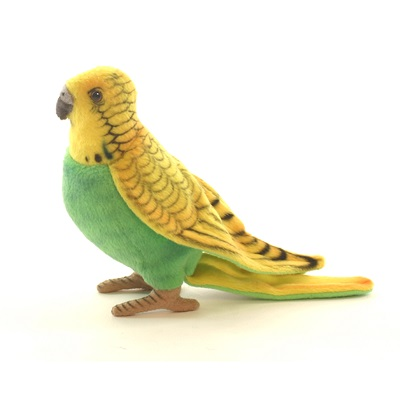 PARAKEET BUDGIE YELL/GREEN 6'' Plush Toy