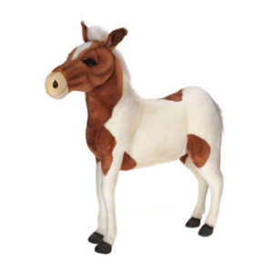 PONY BRN/WH RIDEON 42'' Plush Toy