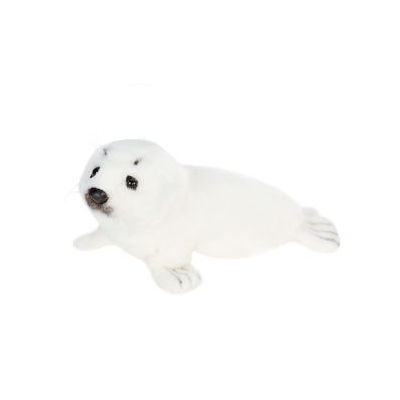SEAL WHITE LYING 12''L Plush Toy