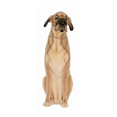 """GREAT DANE BROWN SEATED 35""""H Plush Toy"""