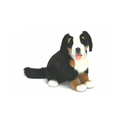 "BERNESE PUP DOG SEATED 14"" Plush Toy"