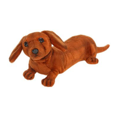 Life-size and realistic plush animals.  4002 - DACHSHUND PUP 16''L