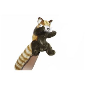 "RED PANDA PUPPET 7.8""H Plush Toy"