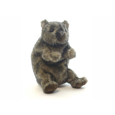 """Life-size and realistic plush animals.  4029 - WOMBAT PUPPET 9""""H"""