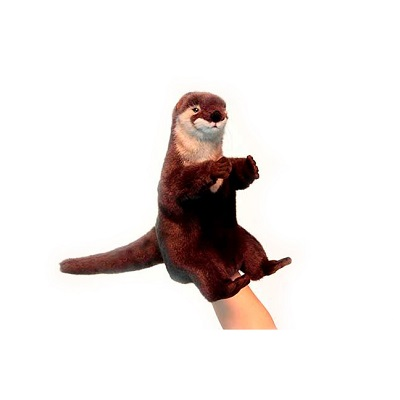 """Life-size and realistic plush animals.  4031 - OTTER PUPPET 11""""H"""