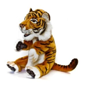 """Life-size and realistic plush animals.  4039 - TIGER PUPPET 7""""H"""