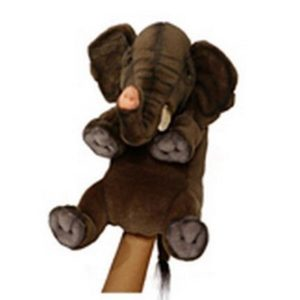 "ELEPHANT PUPPET 10.5""L Plush Toy"