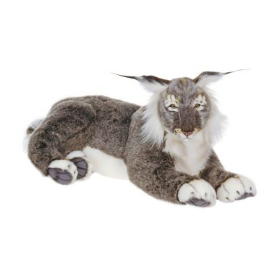 Life-size and realistic plush animals.  4048 - LYNX 28''L