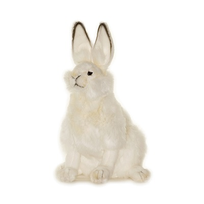 Life-size and realistic plush animals.  4075 - HARE