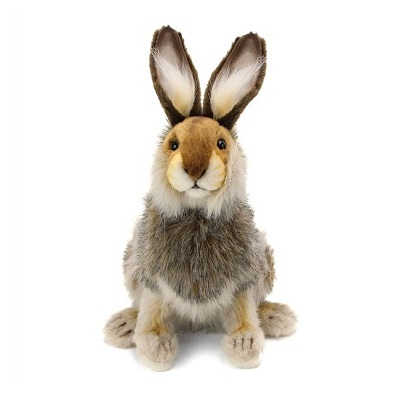 Life-size and realistic plush animals.  4076 - HARE