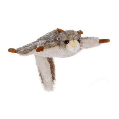 Life-size and realistic plush animals.  4116 - SQUIRREL FLYNG 8''L