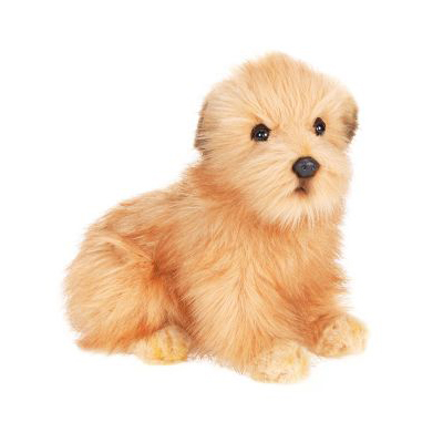Life-size and realistic plush animals.  4126 - TERRIER PUP 9''