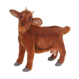GOAT MED BROWN 14''L Plush Toy