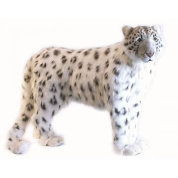 Life-size and realistic plush animals.  4282 - SNOW LEOPARD STANDNG49''L