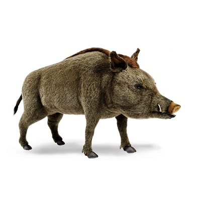 """Life-size and realistic plush animals.  4334 - WILD BOAR STANDNG 57""""L.."""