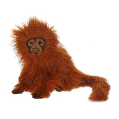 Life-size and realistic plush animals.  4337 - GOLDEN LION TAMARN 12''