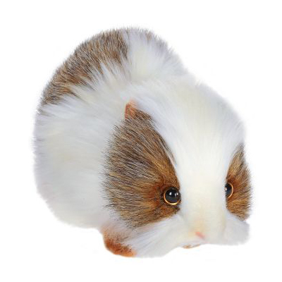 Life-size and realistic plush animals.  4392 - GUINEA PIG GRAY/WH 8''L