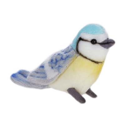 Life-size and realistic plush animals.  4553 - BLUE BIRD 4''L  (SP)