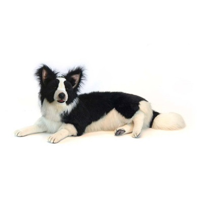 Life-size and realistic plush animals.  4564 - BORDER COLLIE LAYING 34''L