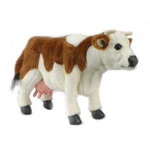 Life-size and realistic plush animals.  4621 - COW