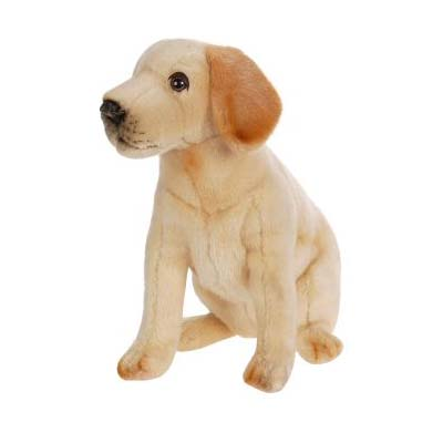 Life-size and realistic plush animals.  4712 - LABRADOR PUP SITTING 10''