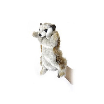 Life-size and realistic plush animals.  4721 - MEERKAT PUPPET 11''
