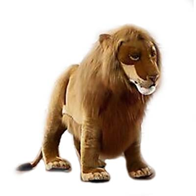 Life-size and realistic plush animals.  4731 - LION