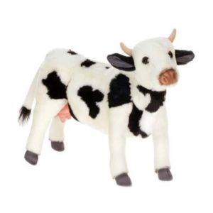 Life-size and realistic plush animals.  4775 - COW