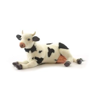 Life-size and realistic plush animals.  4781 - COW
