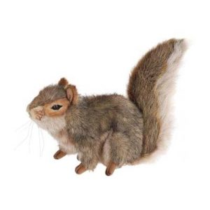 """Life-size and realistic plush animals.  4840 - SQUIRREL GRAY SITTING9""""L"""