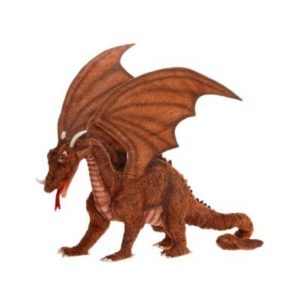 Life-size and realistic plush animals.  4929 - GREAT DRAGON 15''