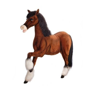 """CLYDESDALE PRANCING 62""""L X 54''H Plush Toy"""