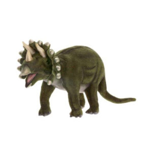 """Life-size and realistic plush animals.  5101 - TRICERATOPS 20""""L"""