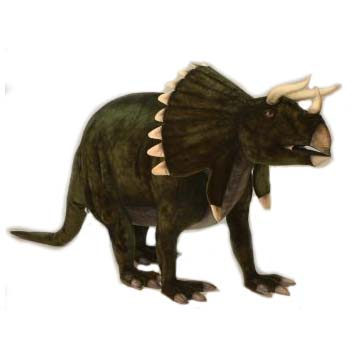 """Life-size and realistic plush animals.  5109 - TRICERATOPS 74''L x 43""""H (SP)"""