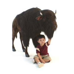 "Buffalo (Bison) 66.3""L x 18.7""W 47""H Plush Toy"